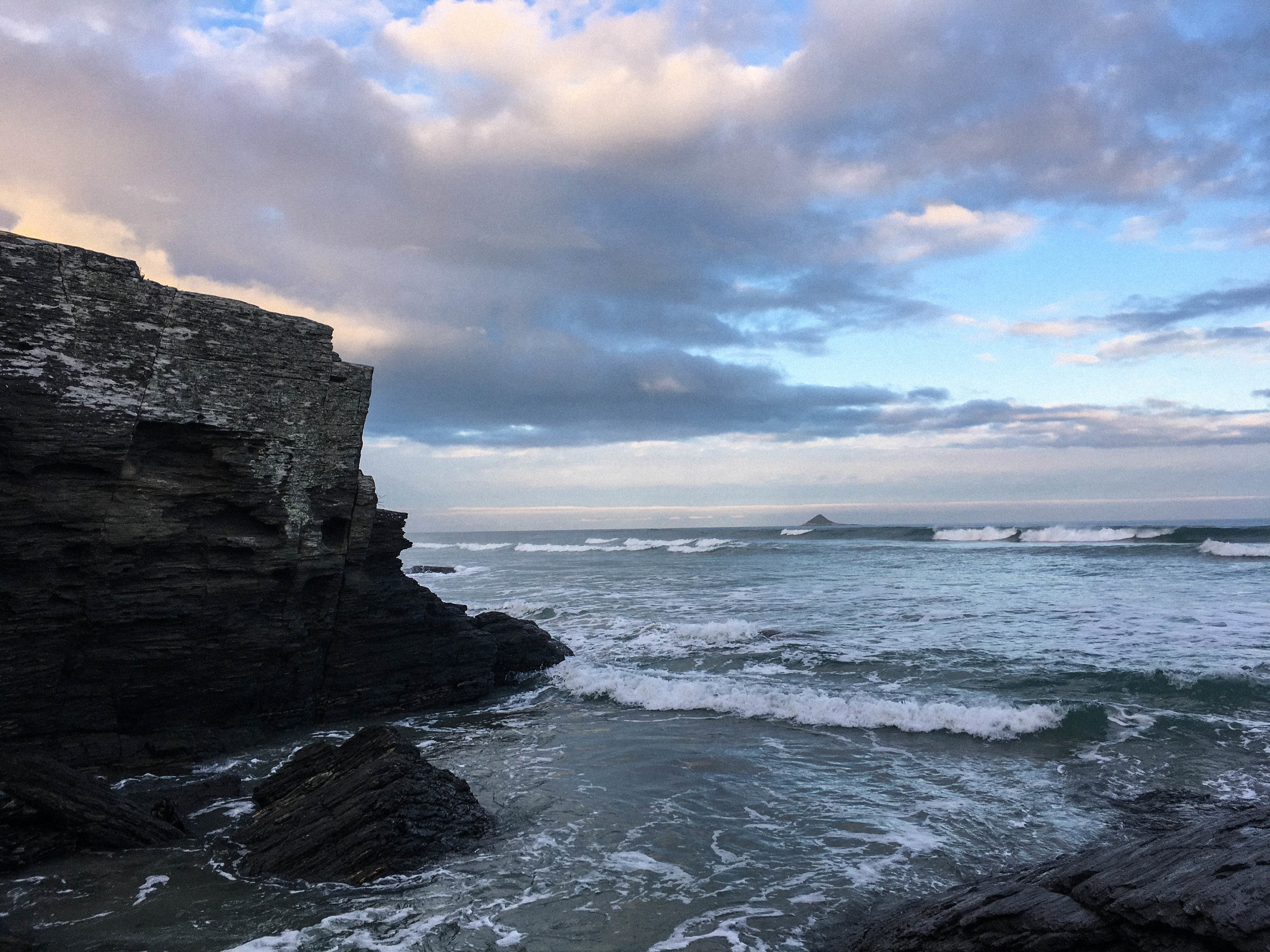 Before sunset, at Brighton Beach, Dunedin