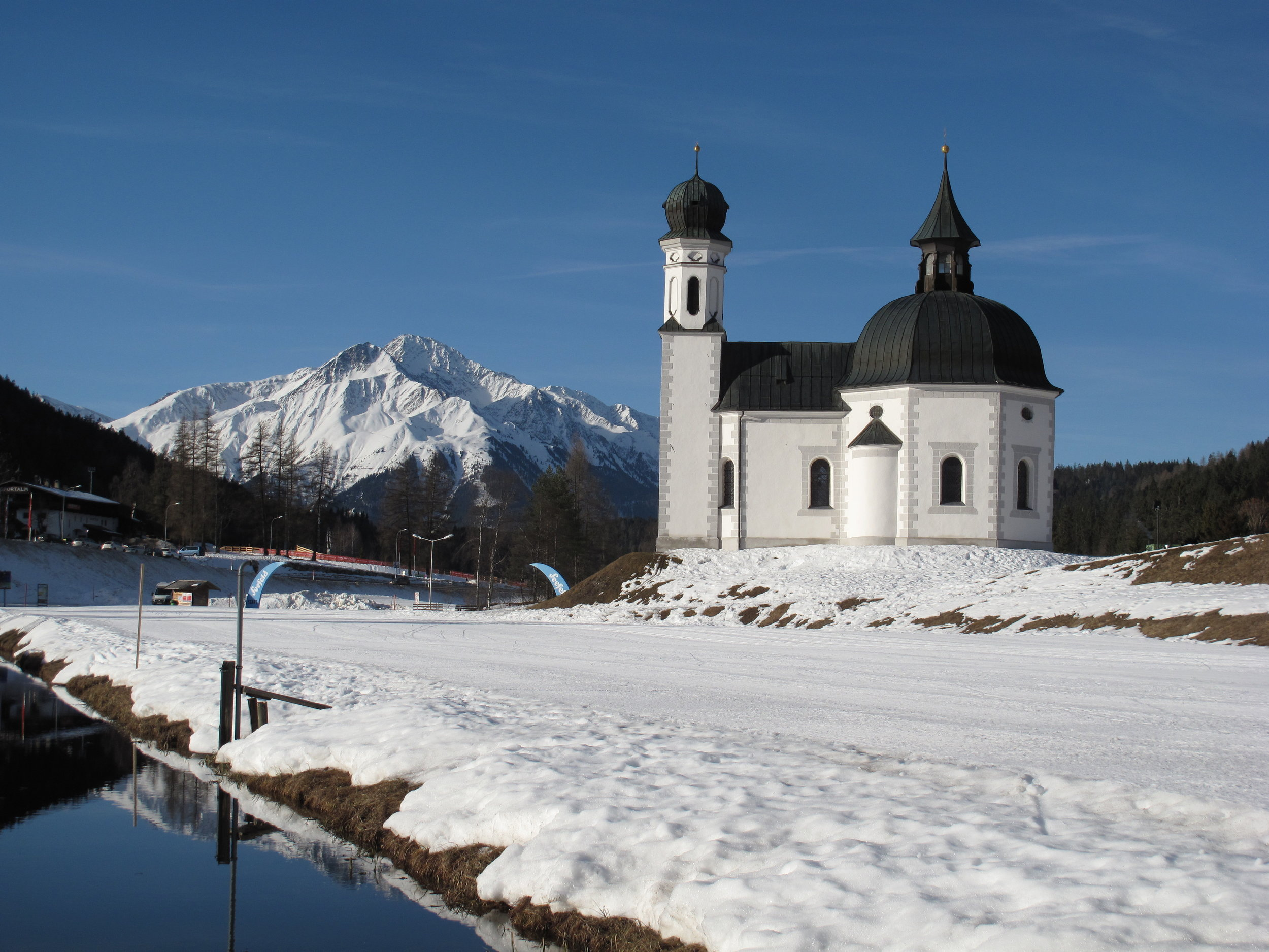 Seefeld Seekirchl and Hocheder Mountain