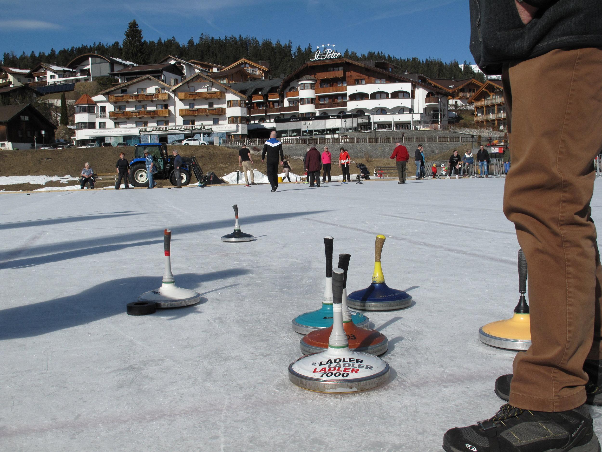 Eisstockschiessen in Seefeld