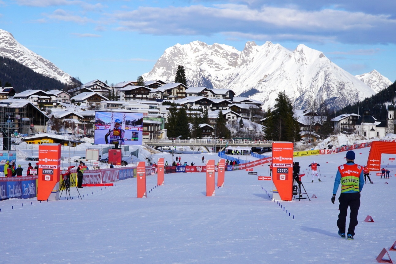 The pre-race scene at the 2018 World Cup in late January in Seefeld, Austria. The venue will host 2019 World Championships.
