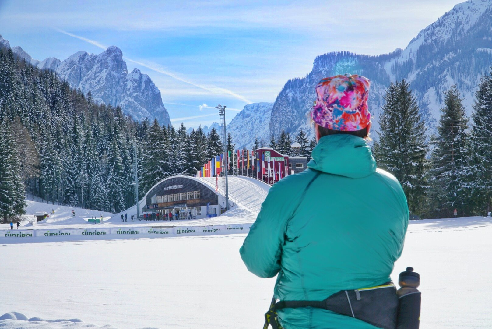 The trips are not only about racing. Trips, such as this one to the Toblach in the Italian Dolomites, feature recreational skiing through some of the most scenic villages in the Alps.