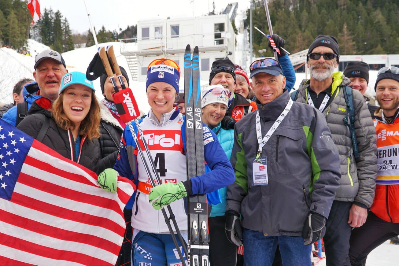 Guests also had the opportunity to cheer on Jessie Diggins and the US Ski Team in their last World Cup races before winning gold the 2018 Olympic Games.