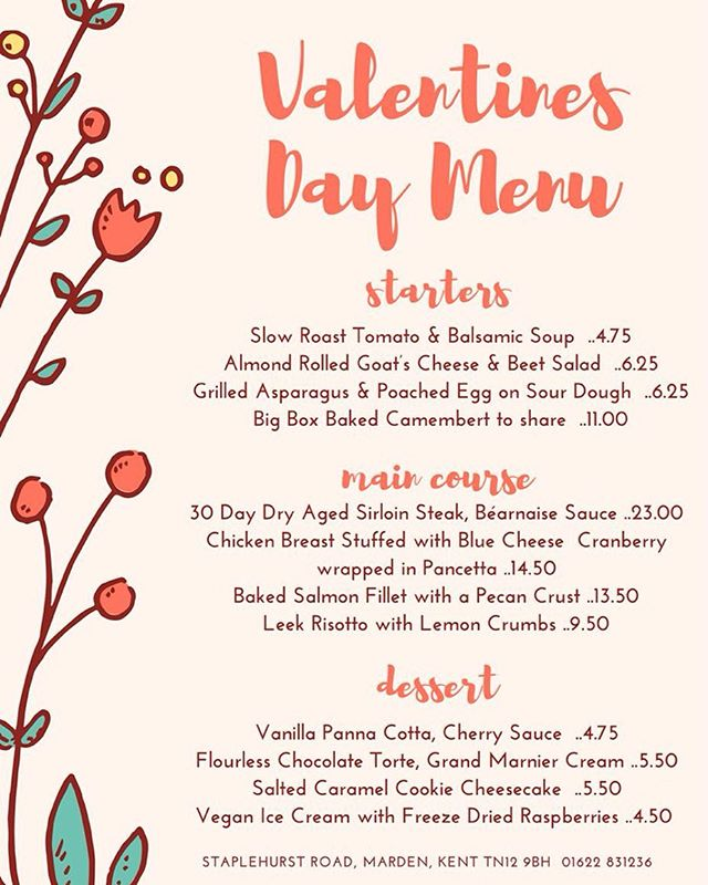 Valentine's Day is nearly here. Don't forget to book