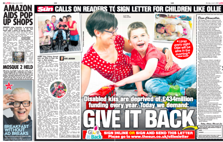 Give It Back launch piece in The Sun