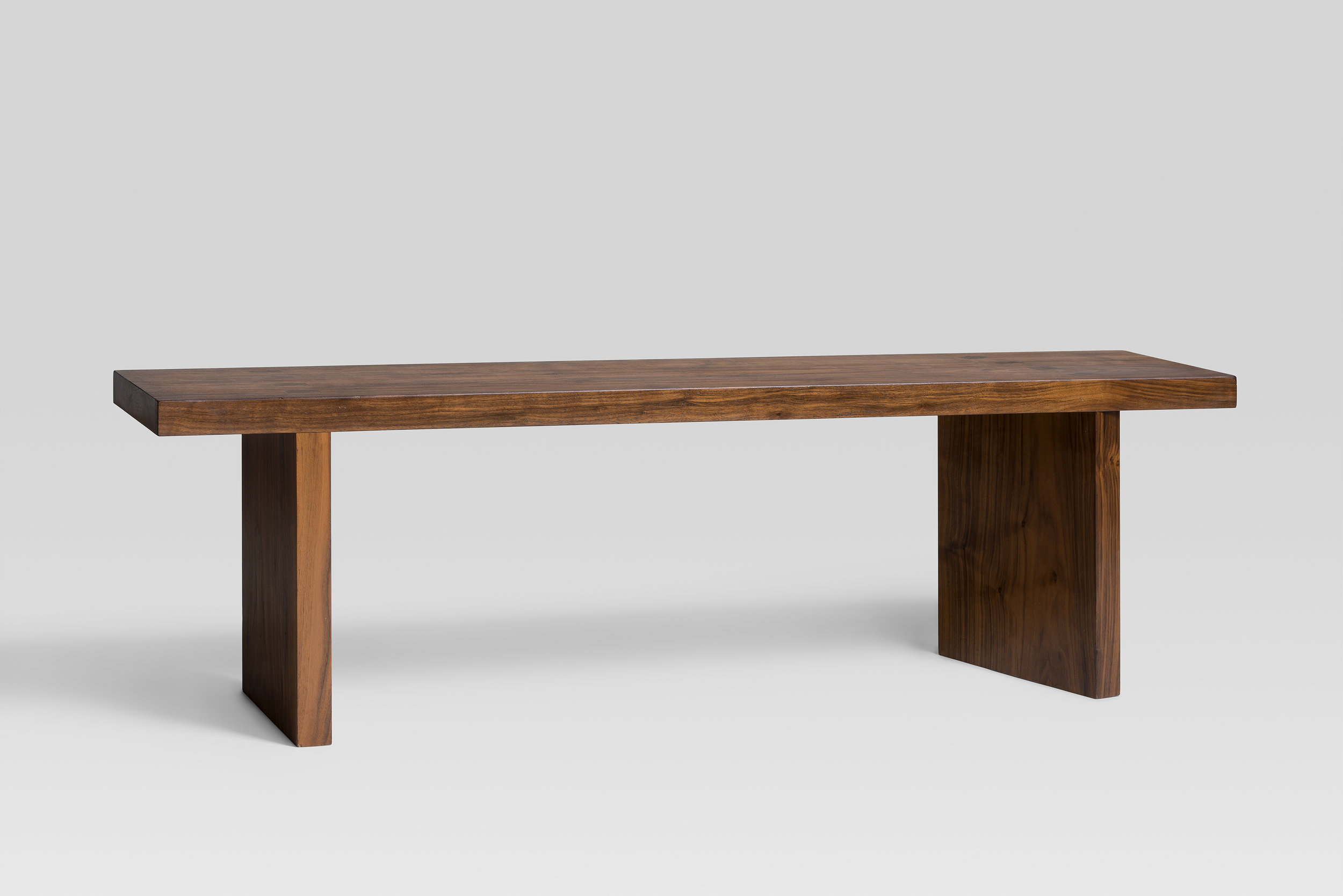European walnut bench