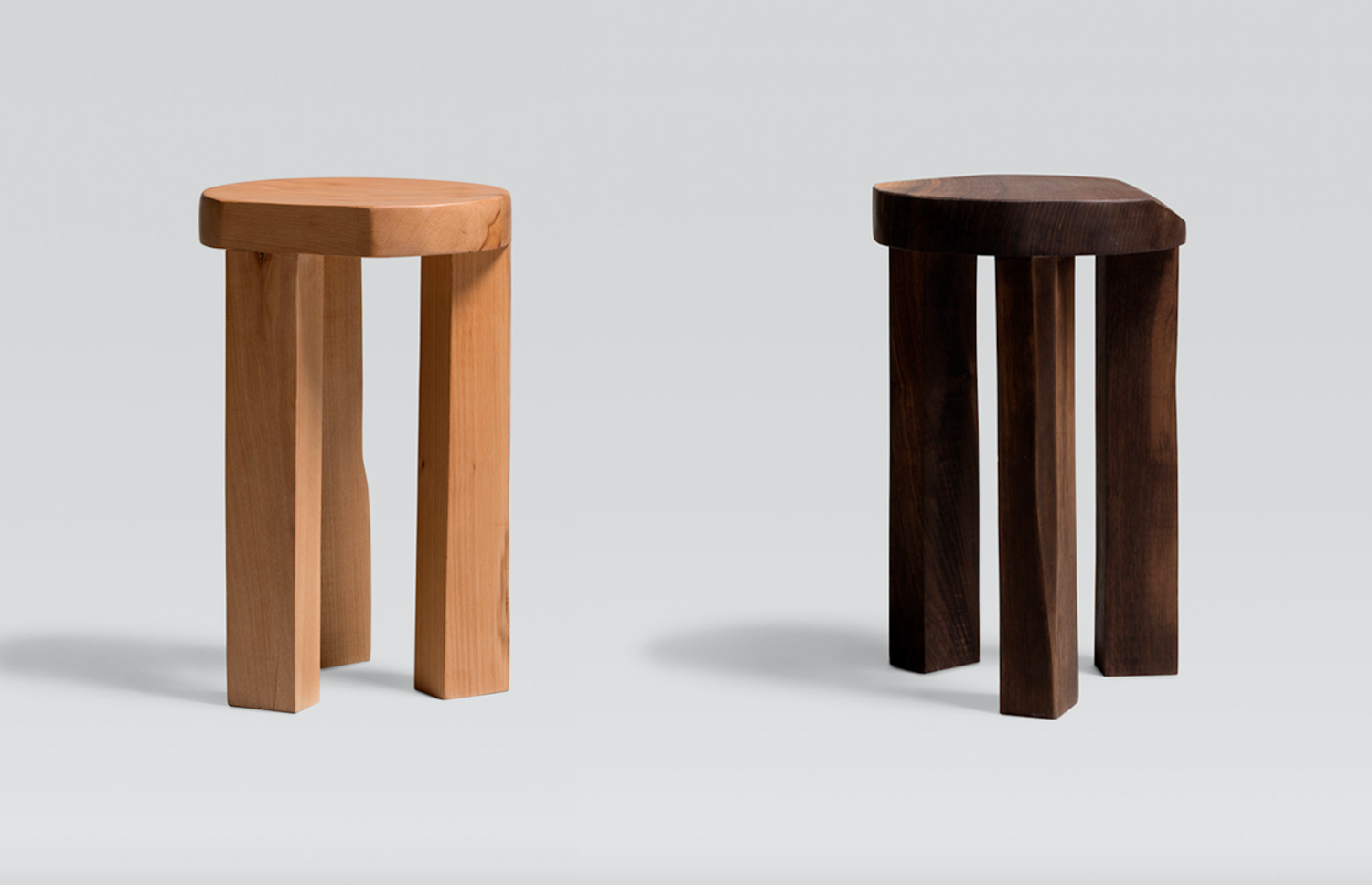 Atelier365 solid wood stool tabouret