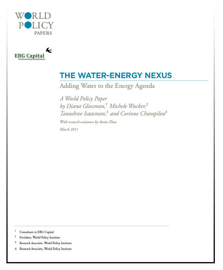 The Water-Energy Nexus World Policy Paper