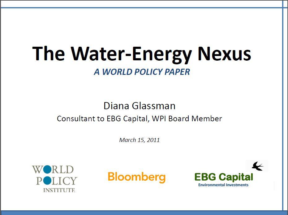 The Water-Energy Nexus Bloomberg Presenation