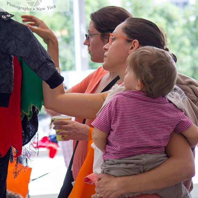 Loads of fun searching for cute clothes at our latest event. #momshoodswap Photo by @colleen_sturtevant_photography