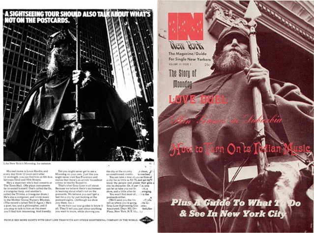 """""""A sightseeing tour should also talk about what's NOT on the postcards... Like New York's Moondog, for instance."""""""