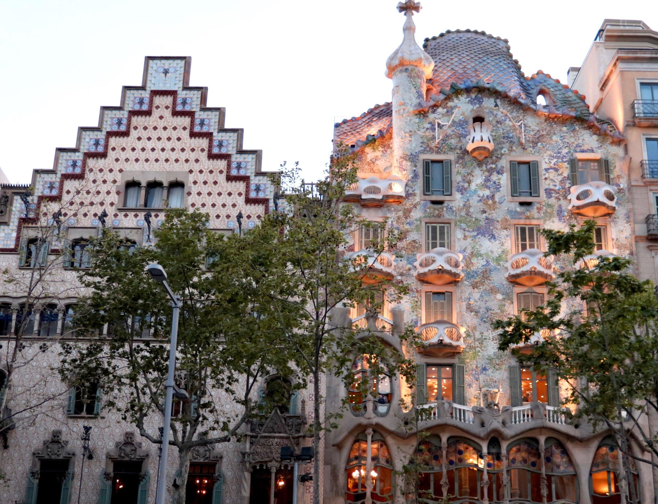 Casa Batllo, by Gaudi. Barcelona.