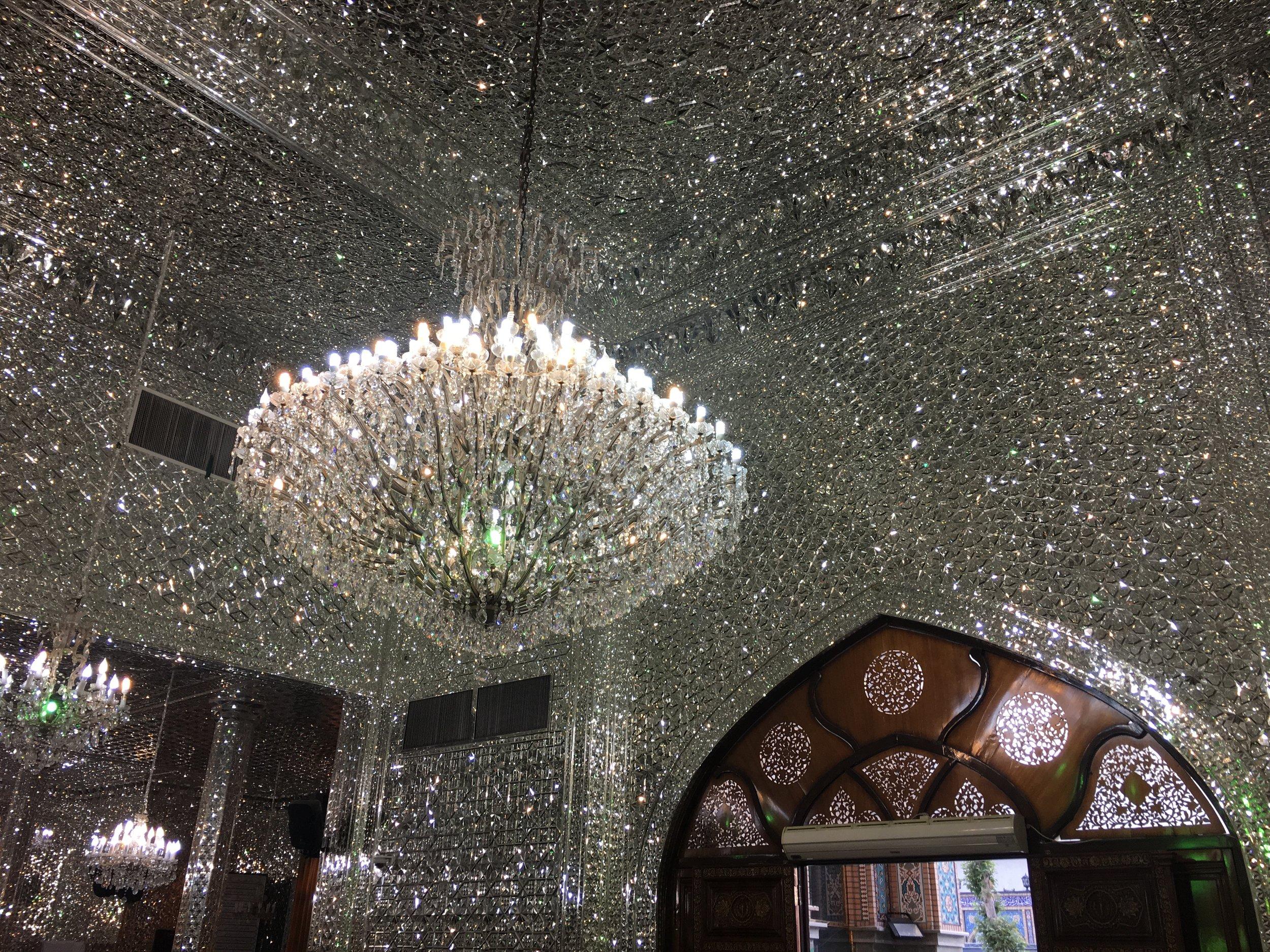 Imāmzādeh Sāleh Mausoleum. Mirror mosaic.