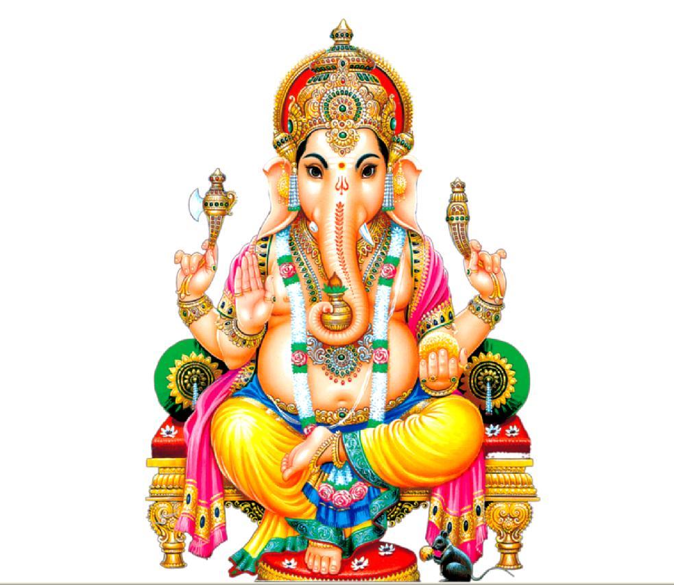 - Lord Ganesha.Hindu God of New Beginnings.