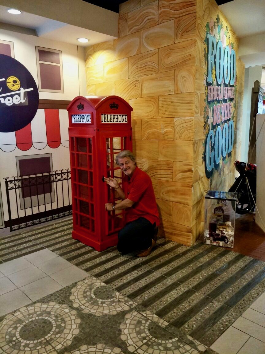 Me, in a shopping mall, Jakarta, Indonesia.