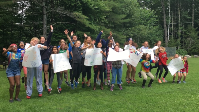 Loud and proud at Camp Farwell