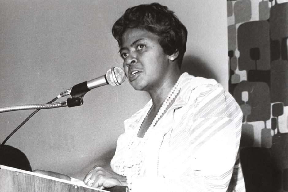 Unsung Atlanta labor organizer and domestic worker,  Dorothy Bolden . (Image courtesy: Georgia State University Library)