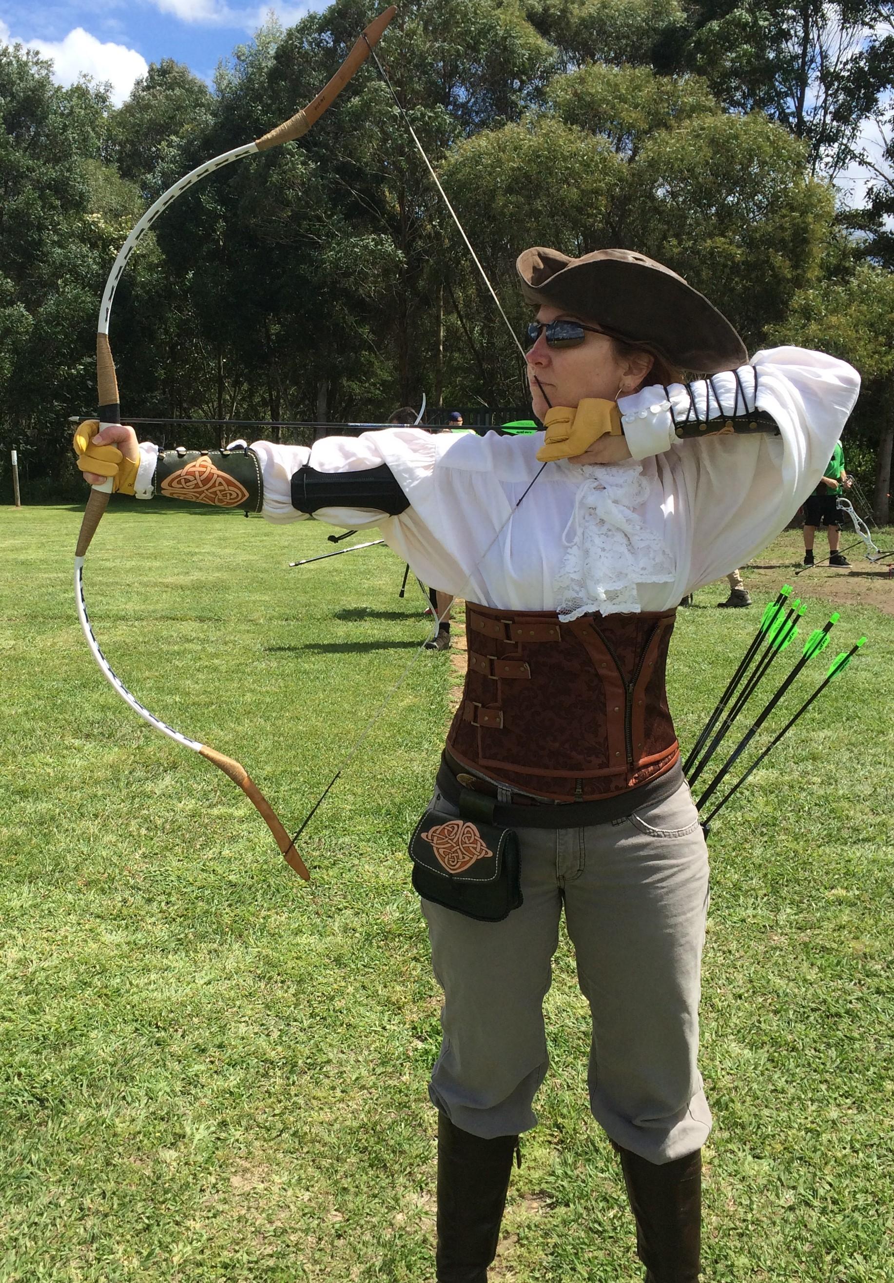 Aiki knows her way around a bow.