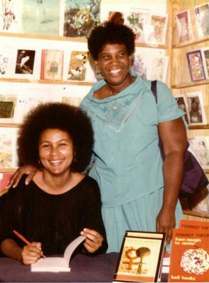 bell hooks at Charis in 1985. (Photo:  Southern Spaces )