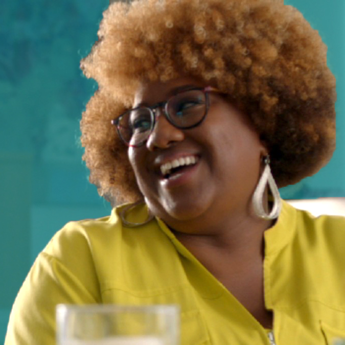 Meet comedy writer and actor, Ashley Nicole Black . . . (Source: HBO)
