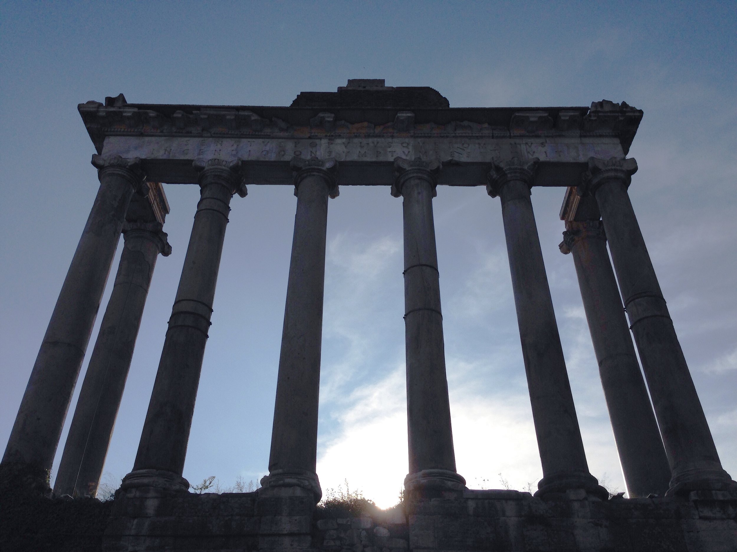 Temple of Saturn. Rome, Italy