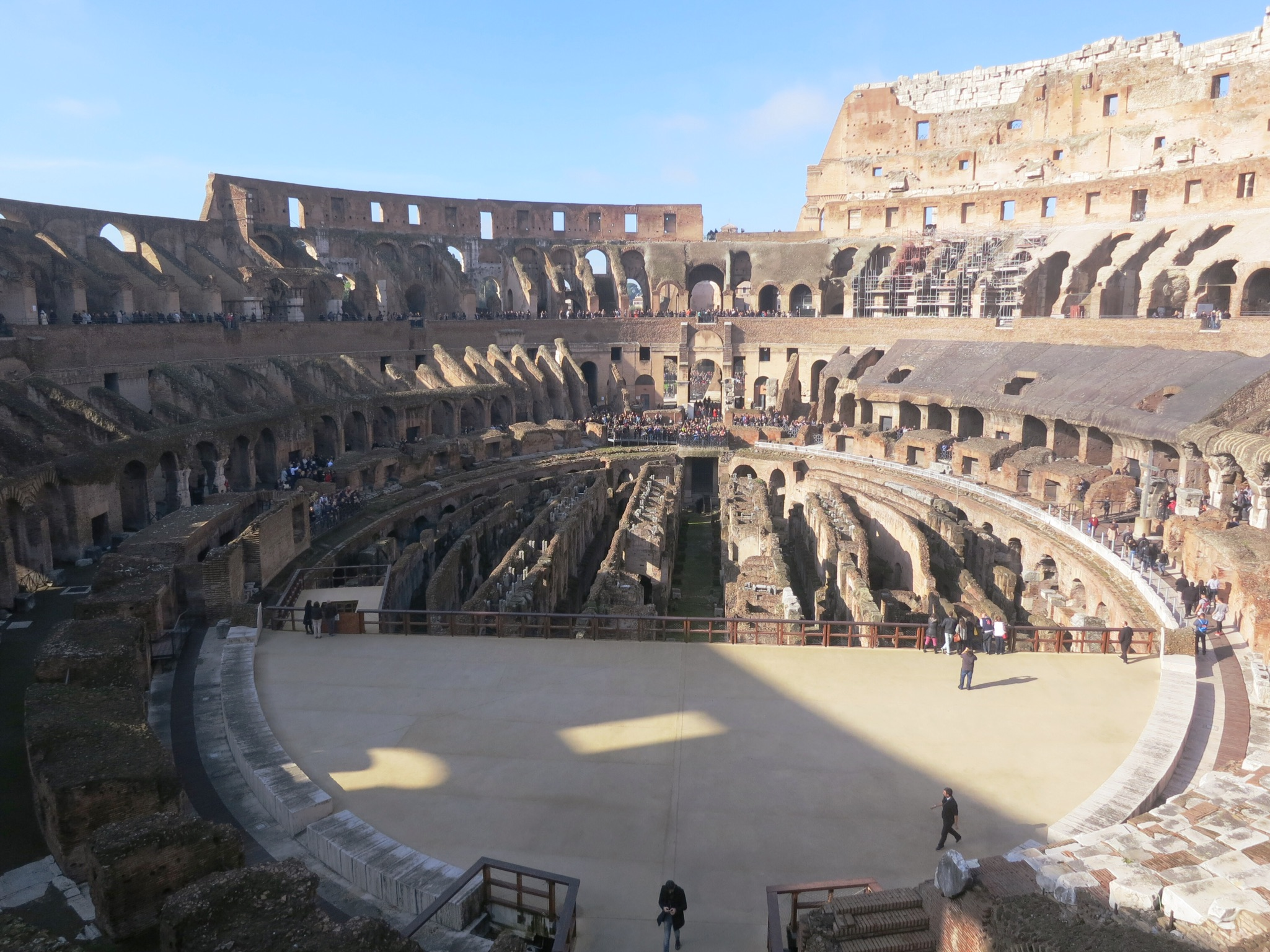 The interior of the Colosseum in Rom, Italy is a staggering sight.