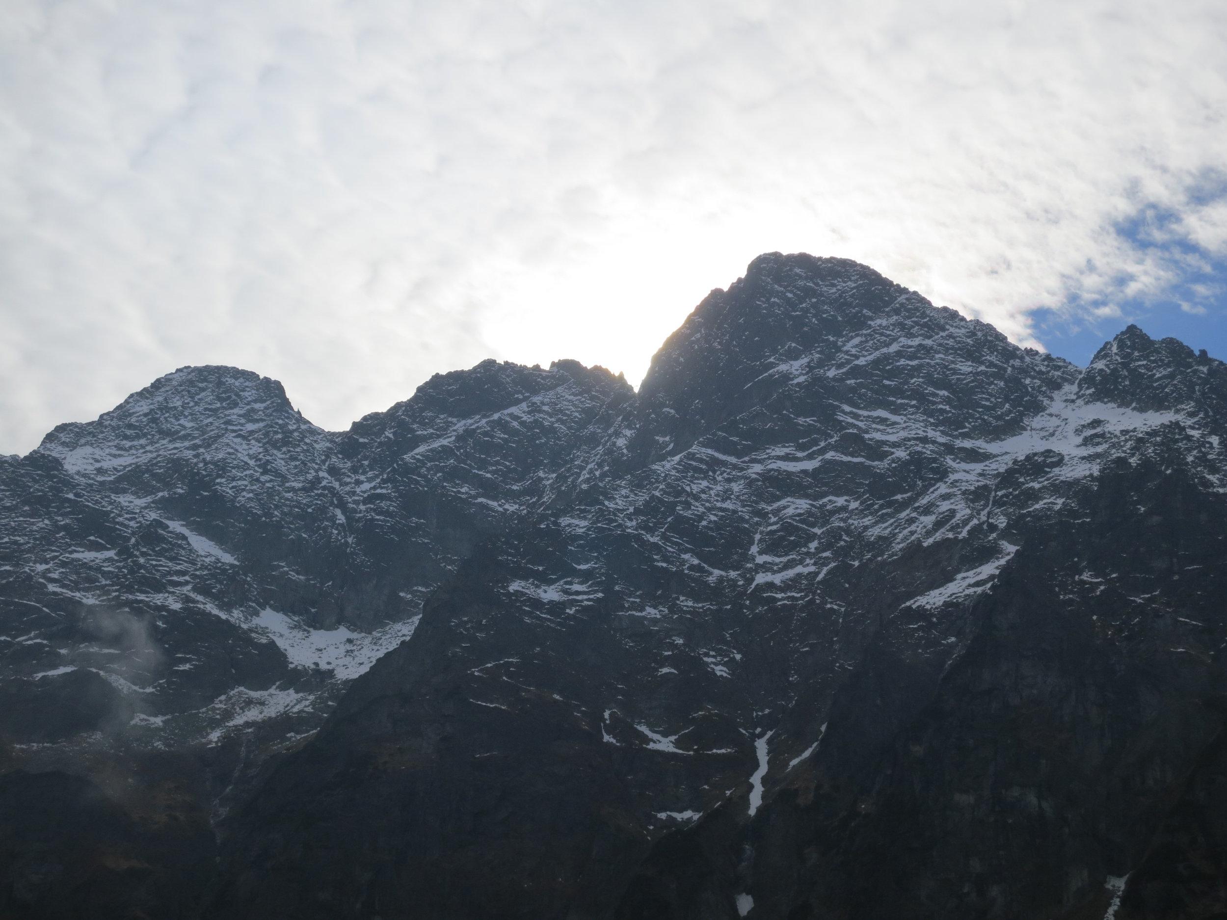 Mountain Peaks in the Tatra Mountains.