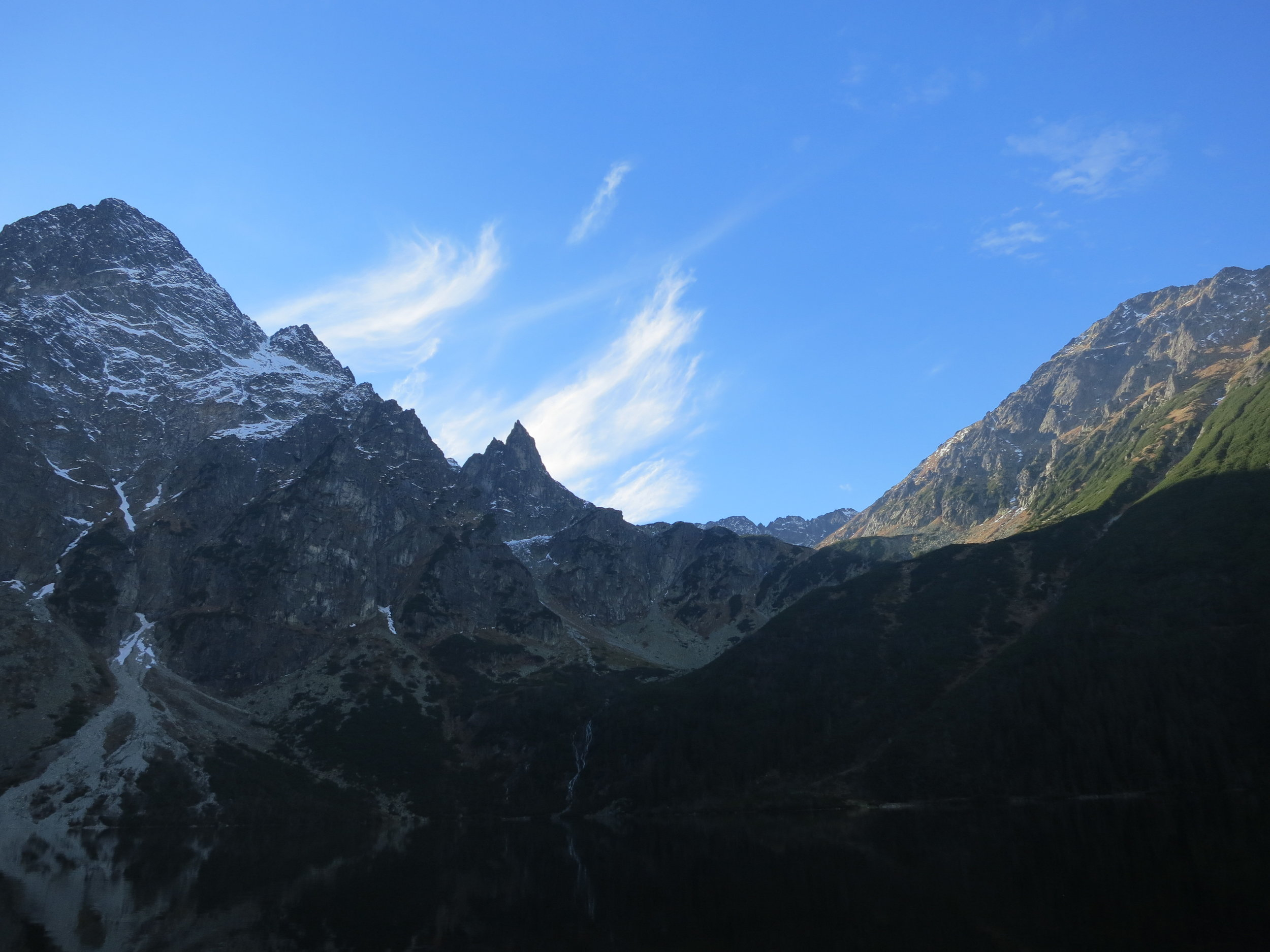 A view of Mount Rys, the tallest peak in the Polish Tatra Mountains.