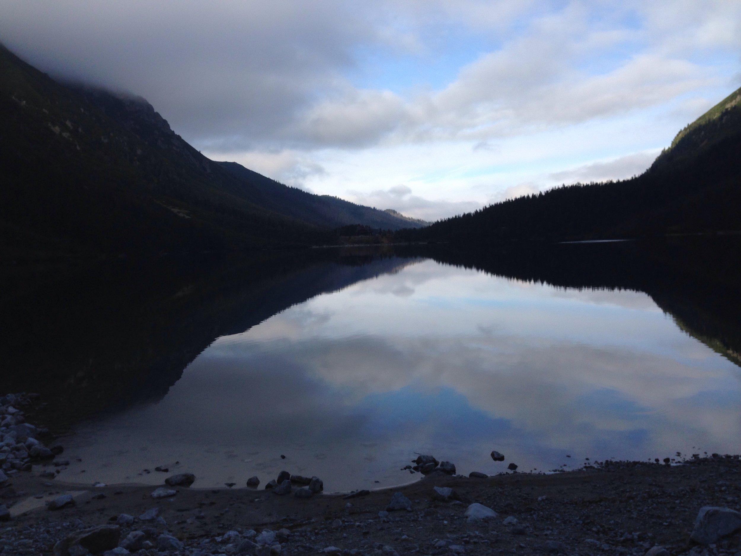 "Morski Oko (""The Eye of the Sea"") is a beautiful lake in the Tatra Mountains"