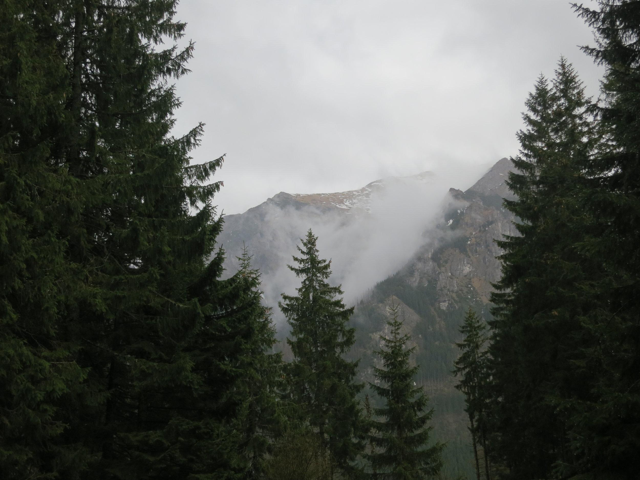 Fog in the Tatra mountains