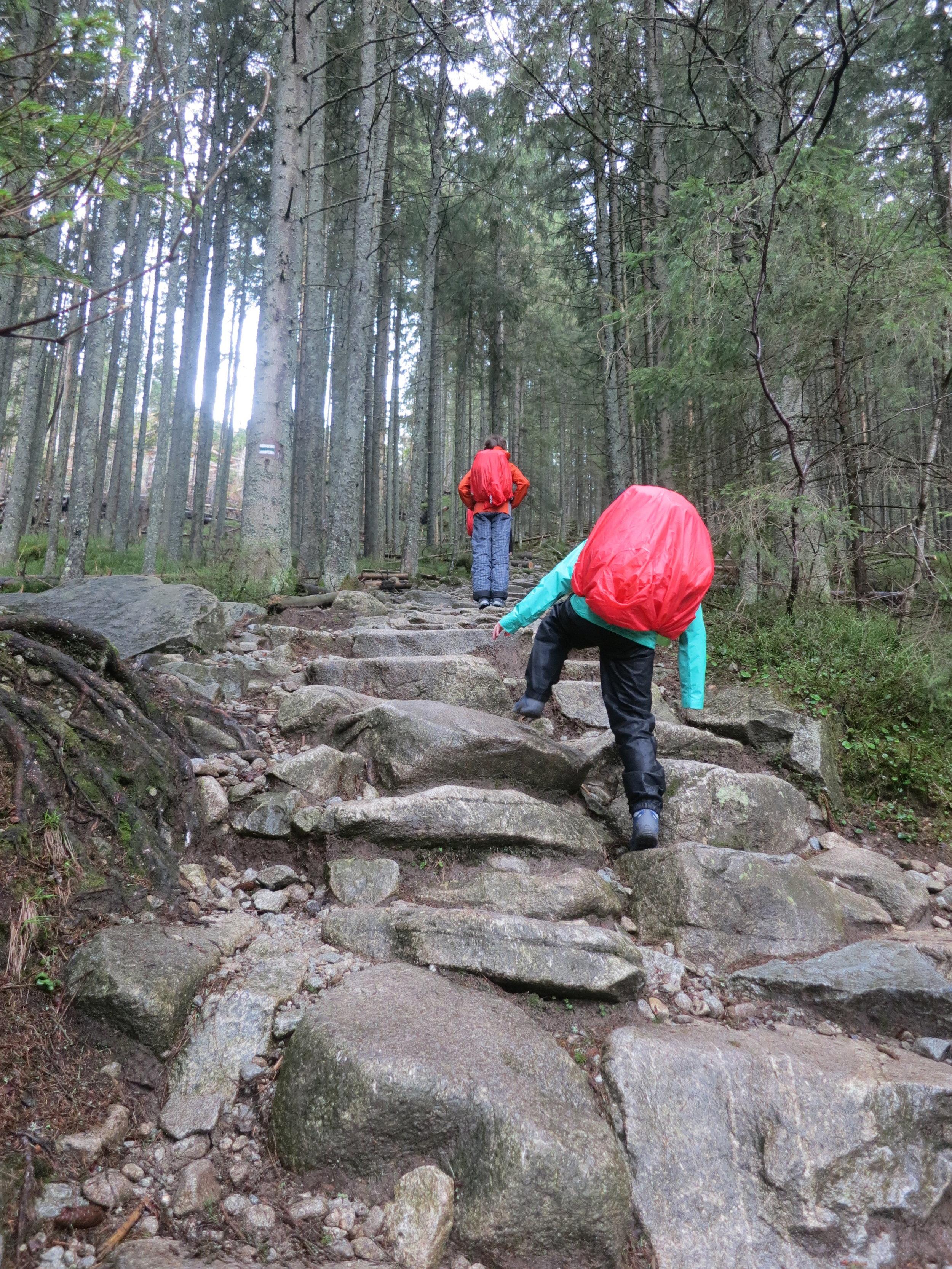 Beginning the hike to Dolina Pięciu Stawów