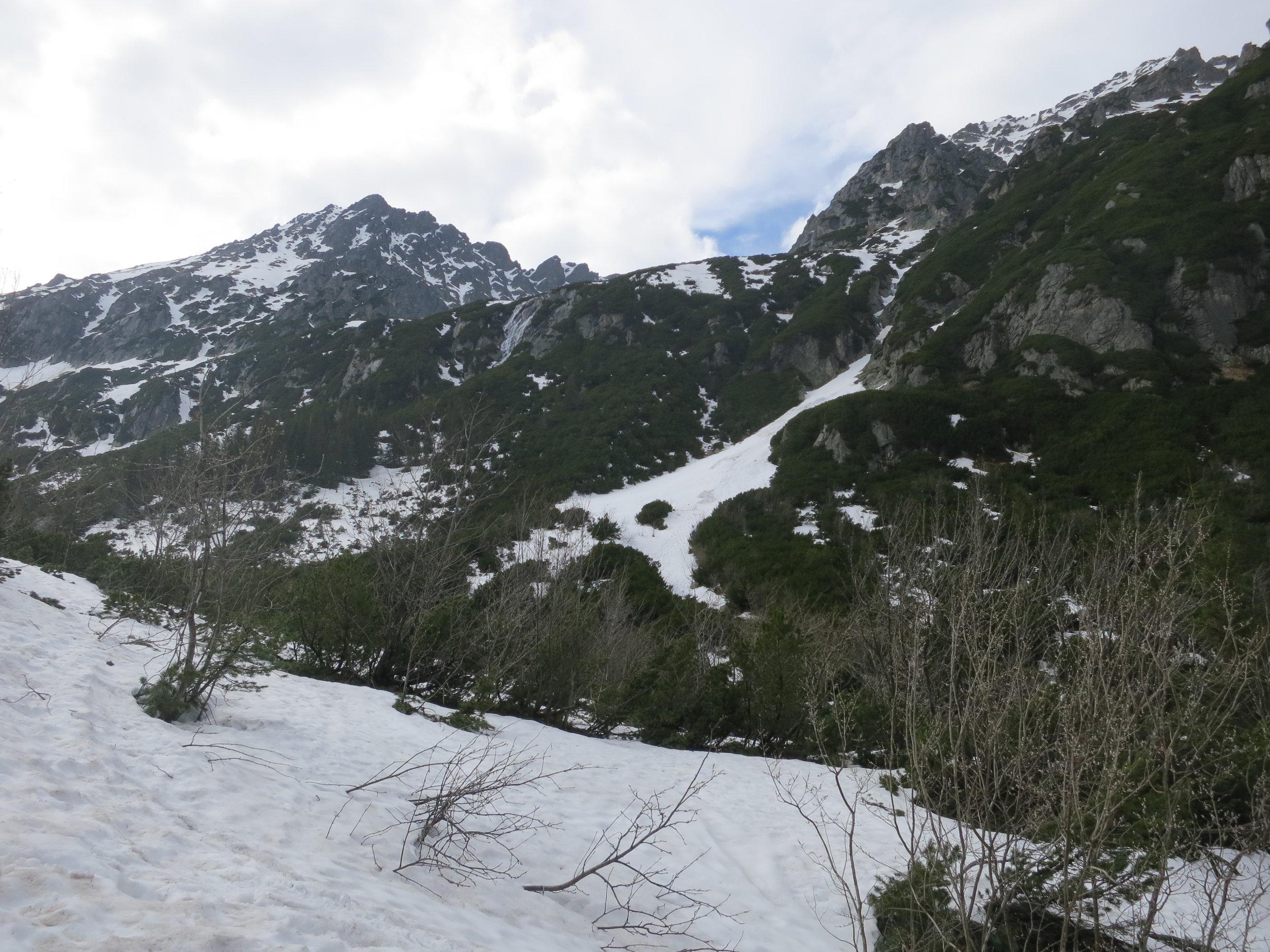 Mountain views near Dolina Pięciu Stawów.