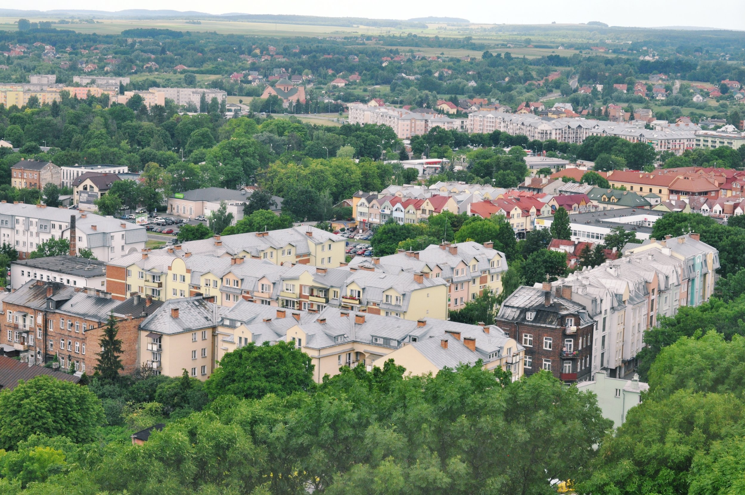 View overlooking Chelm, Poland