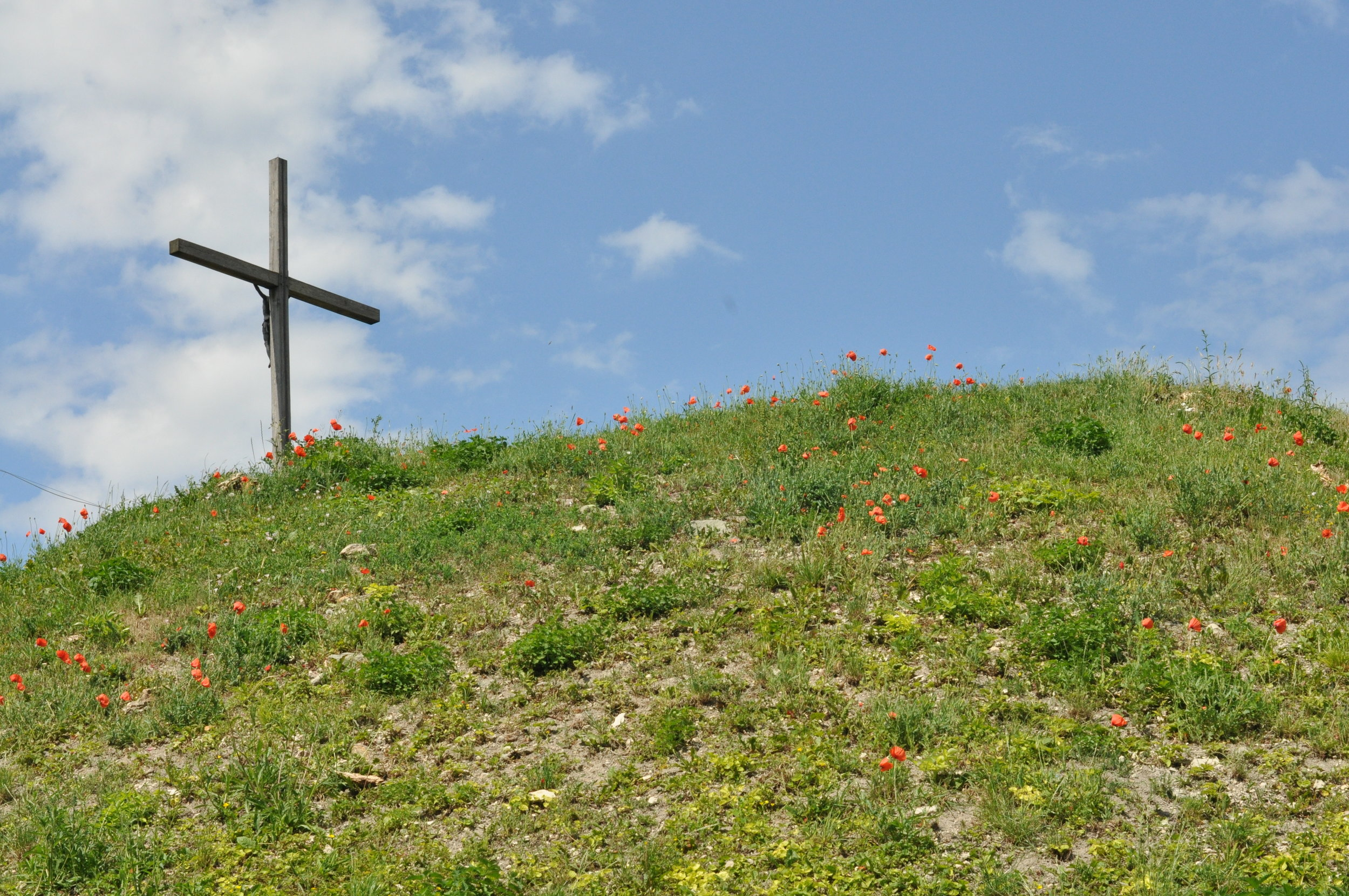 Cross on top of High Hill in Chelm, Poland
