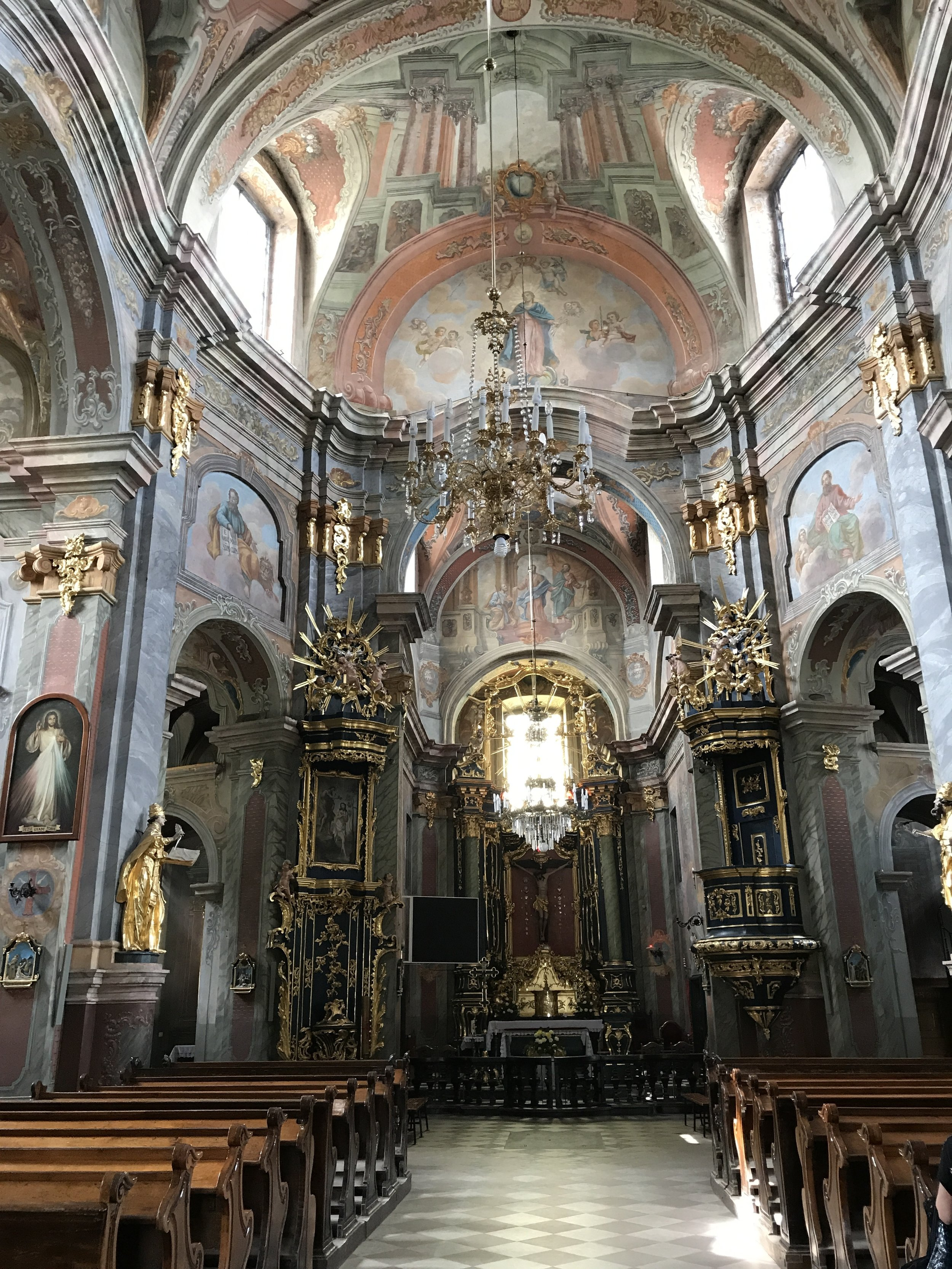 Interior of The Parish Church of the Apostles, the Messengers, in Chelm, Poland