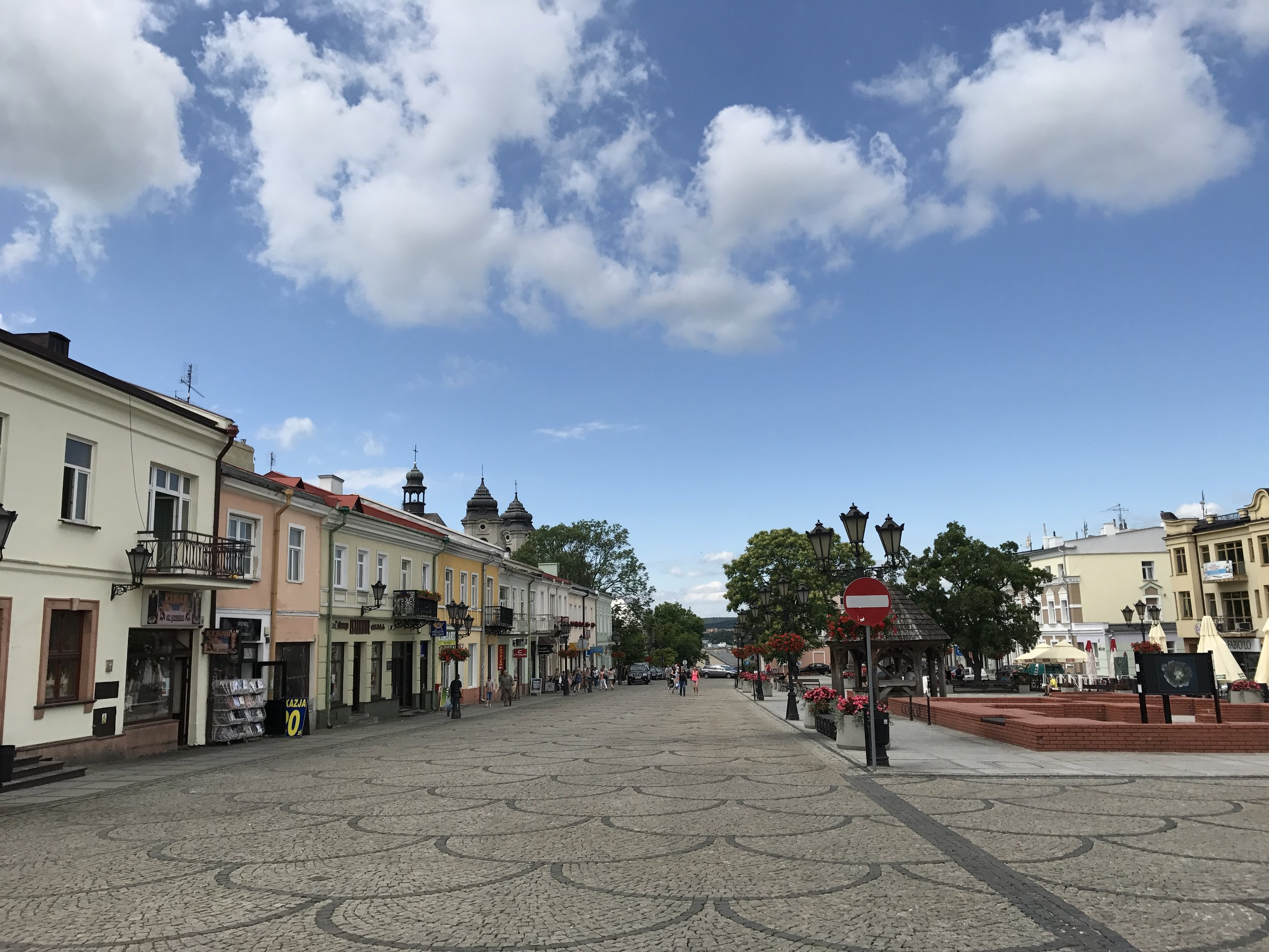 Main Street in Chelm, Poland