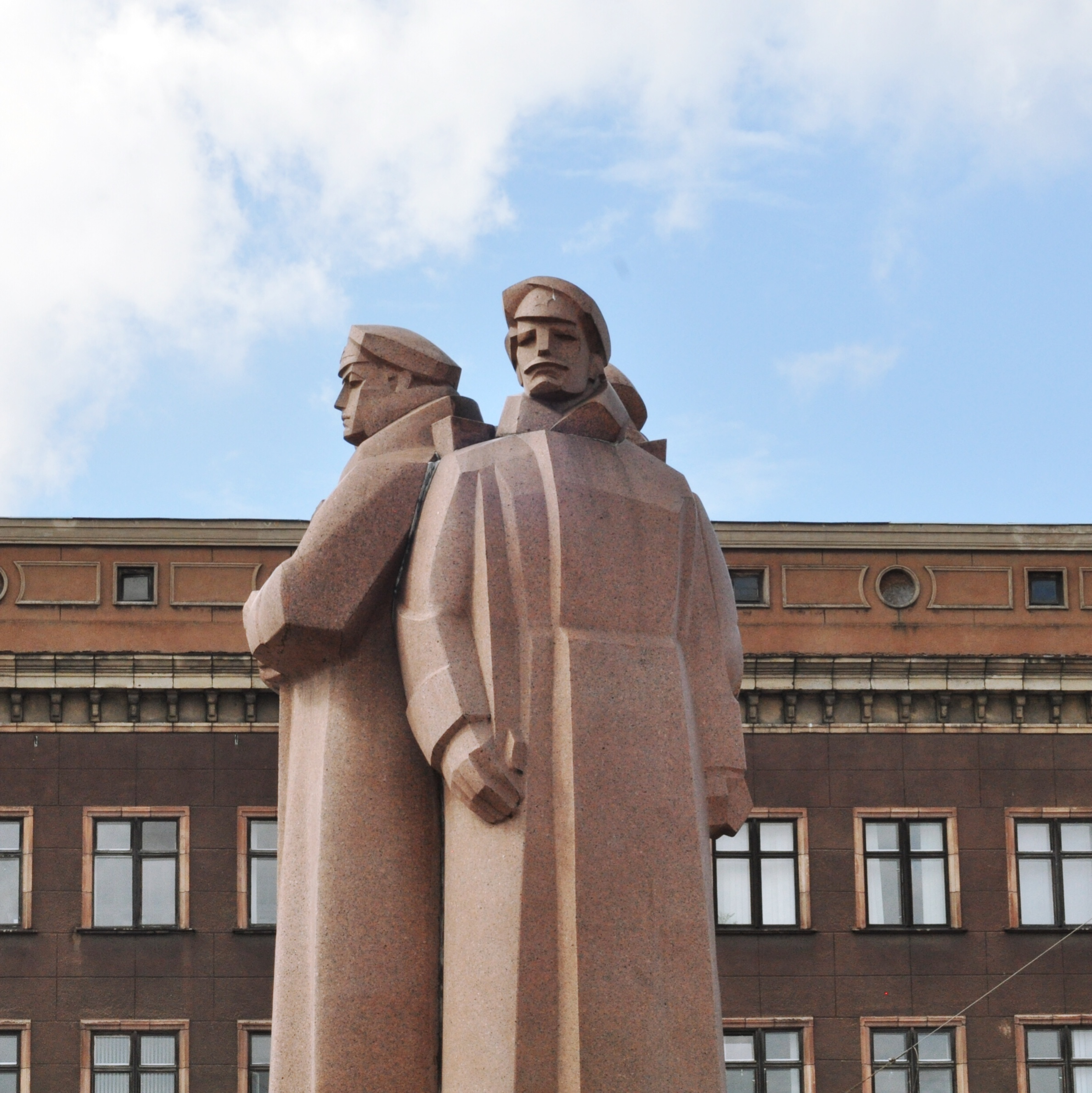 Communist Statue in Riga, Latvia