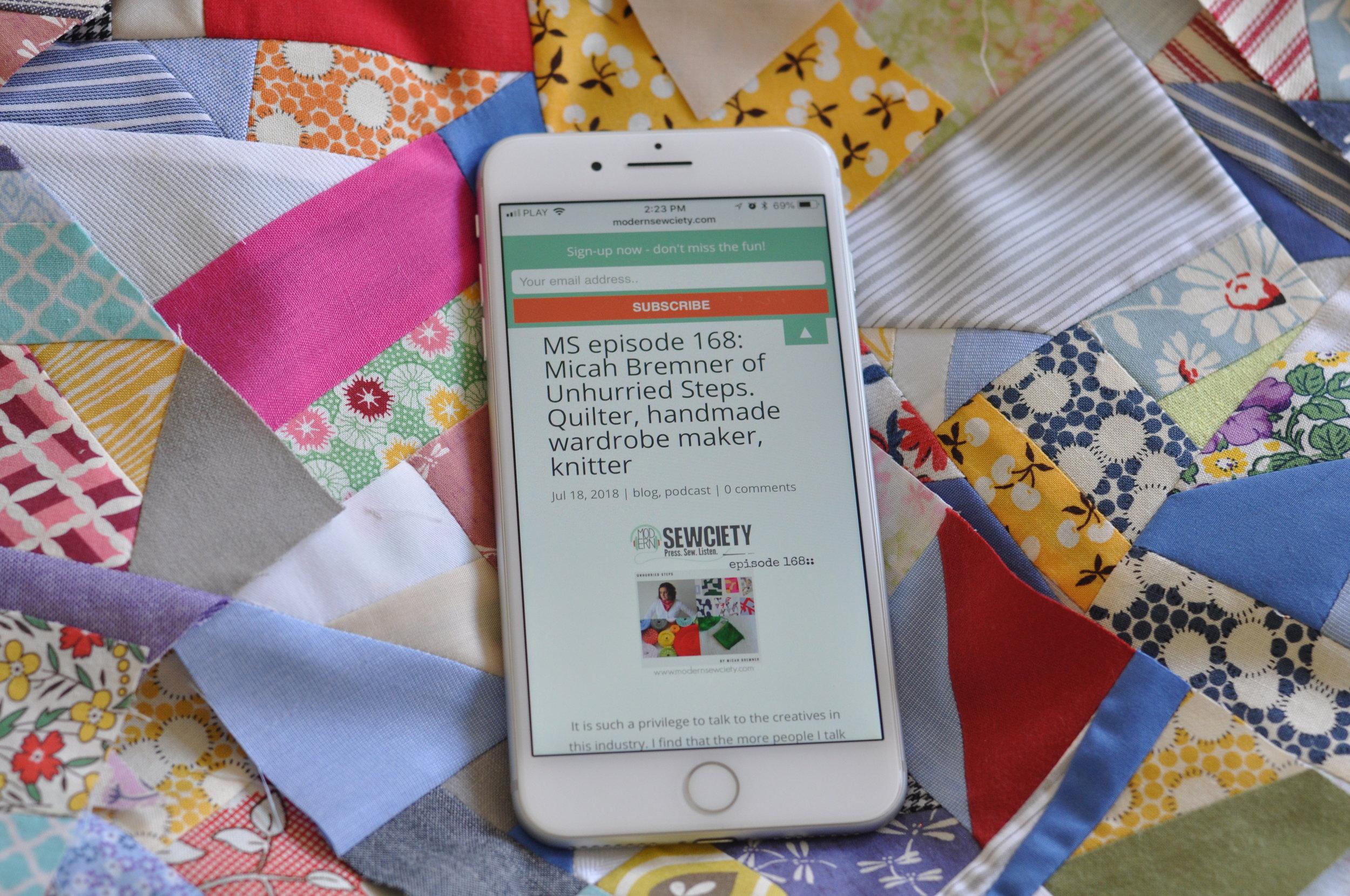 Modern Sewciety Podcast Micah Bremner Episode 168