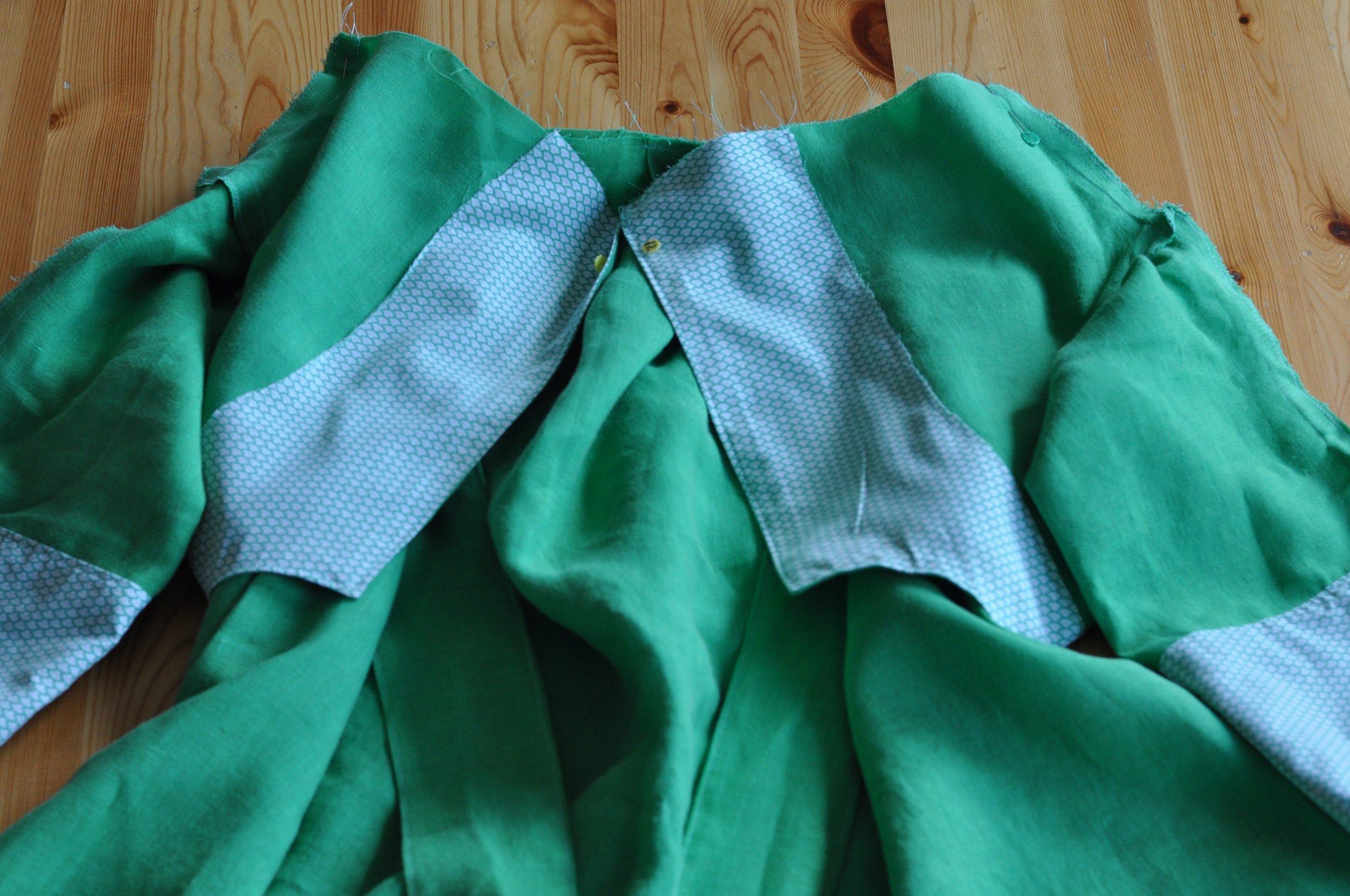Schoolhouse Tunic Dress in process