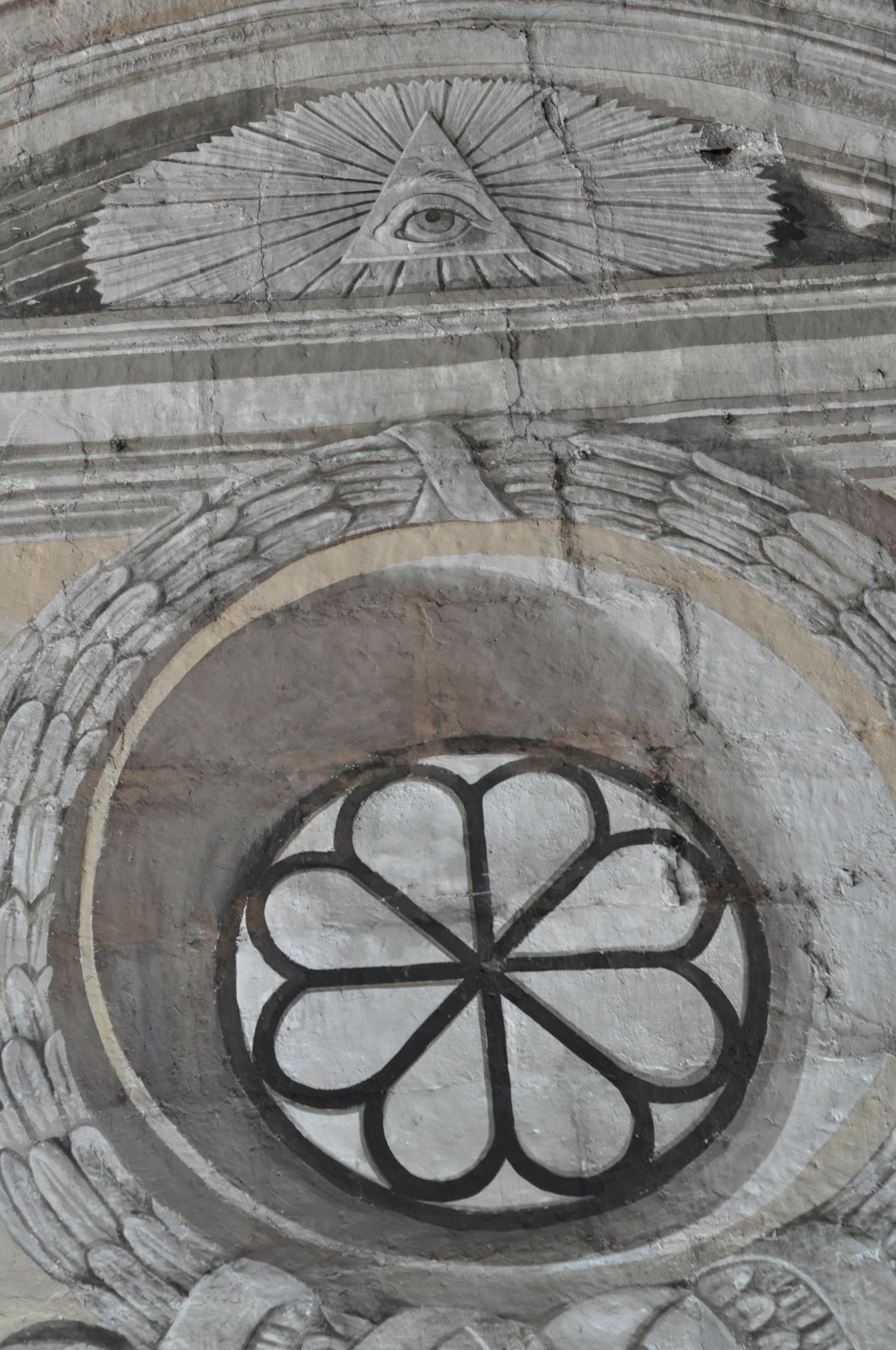 Painted facades in San Agustin Church, Intramuros, Manila Philippines