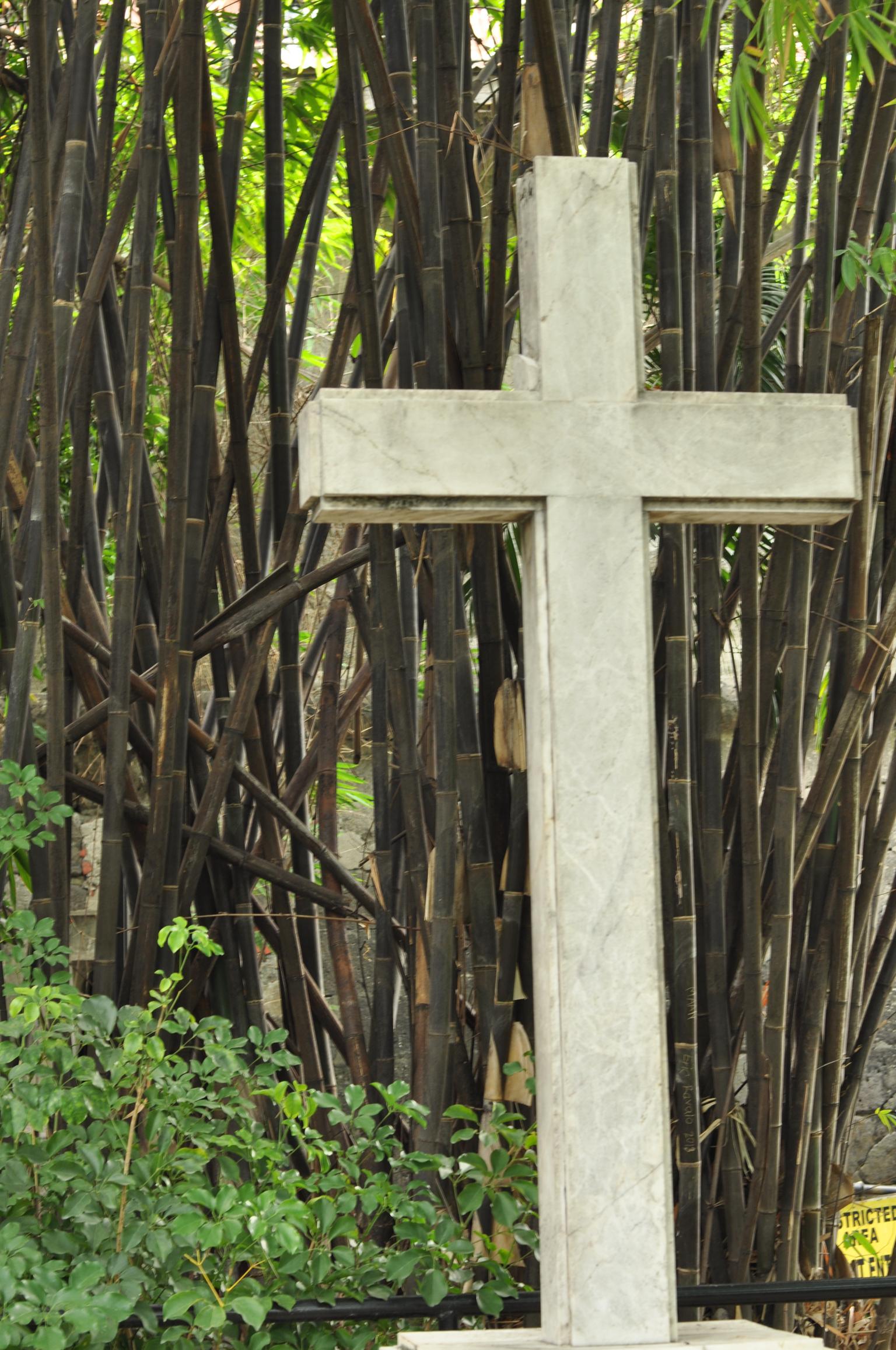 Cross in Fort Santiago Intramuros, Manila, Philippines