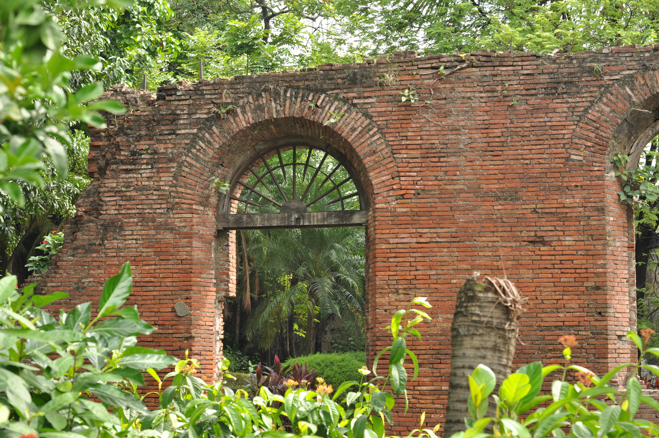 Wall with arches in Fort Santiago Intramuros, Manila, Philippines