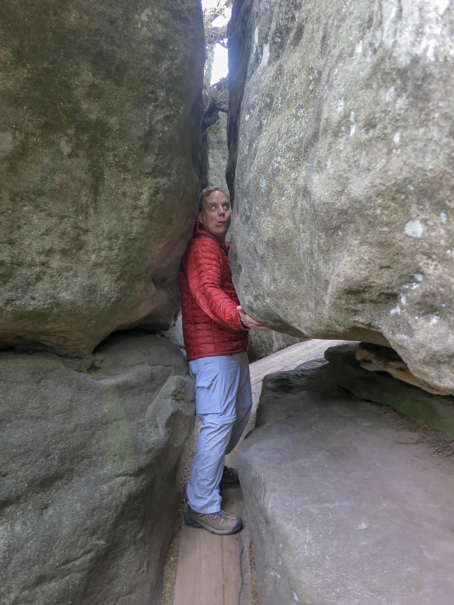 Errant Rocks Hike, Stołowe Mountains, Poland