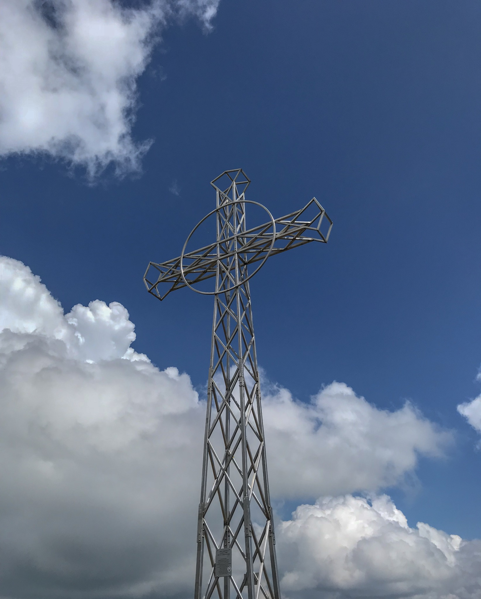 Cross at Tarnica summit, Bieszcady Mountains