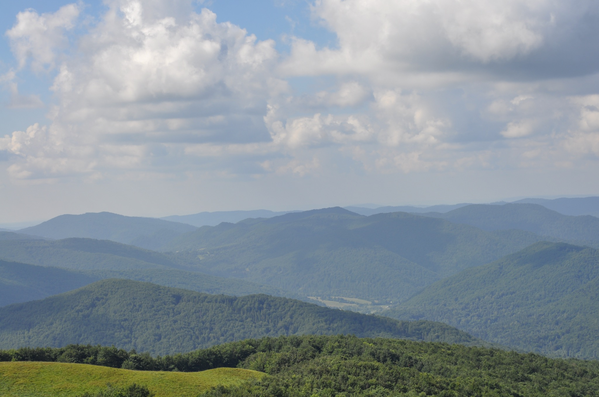 Bieszczady National Park mountains and valleys