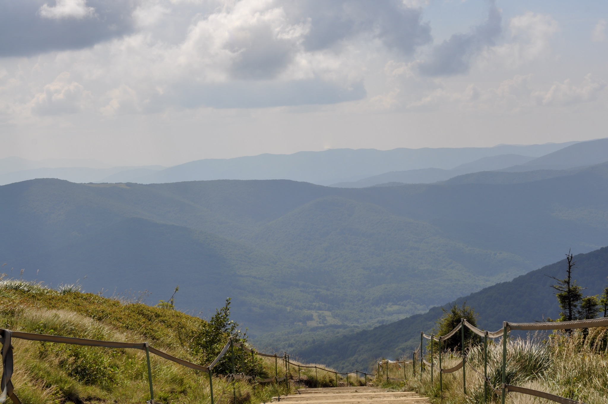 Stairs leading to Tarnica Peak
