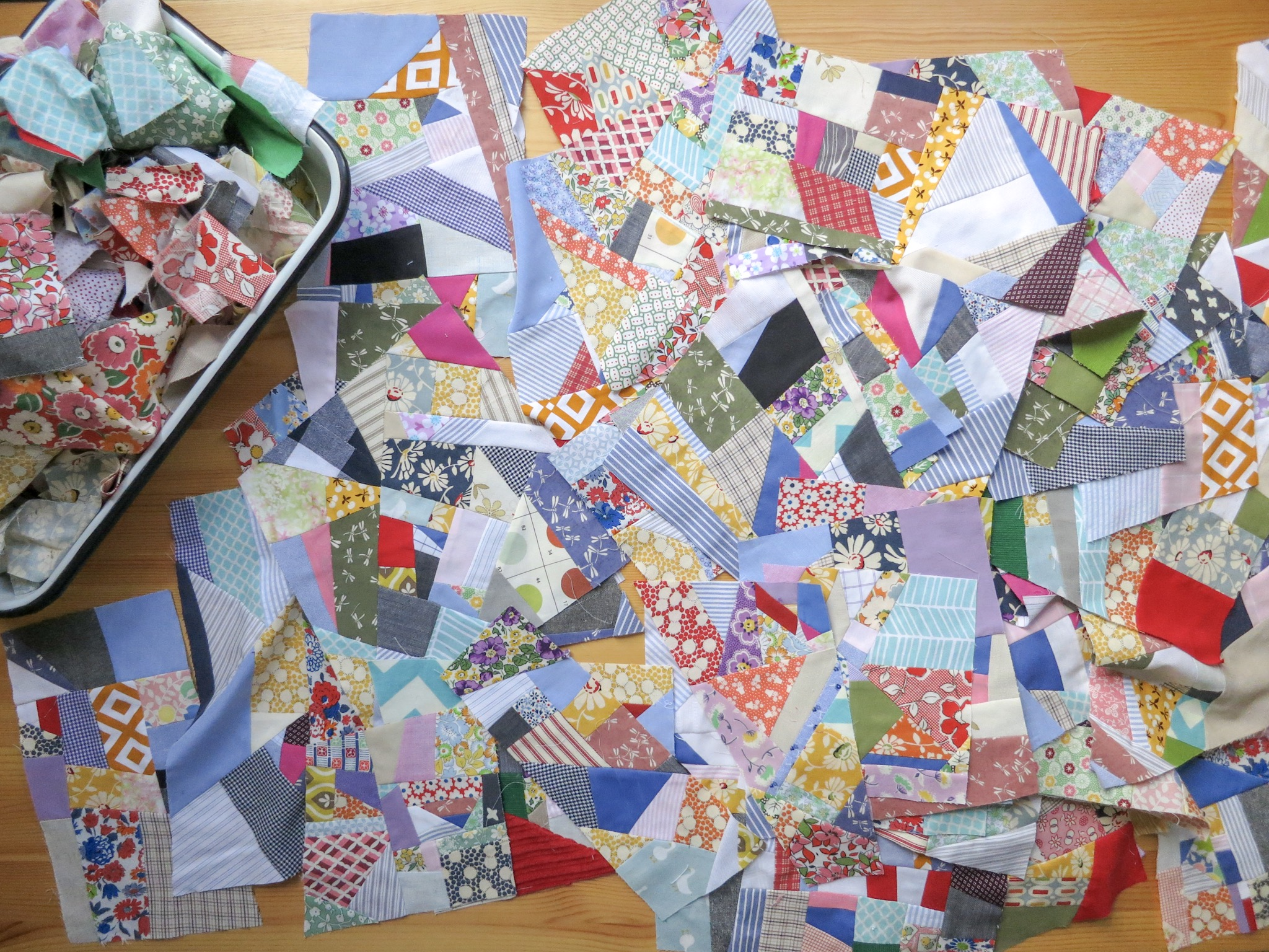 Quilt blocks made for the 100 Days Project