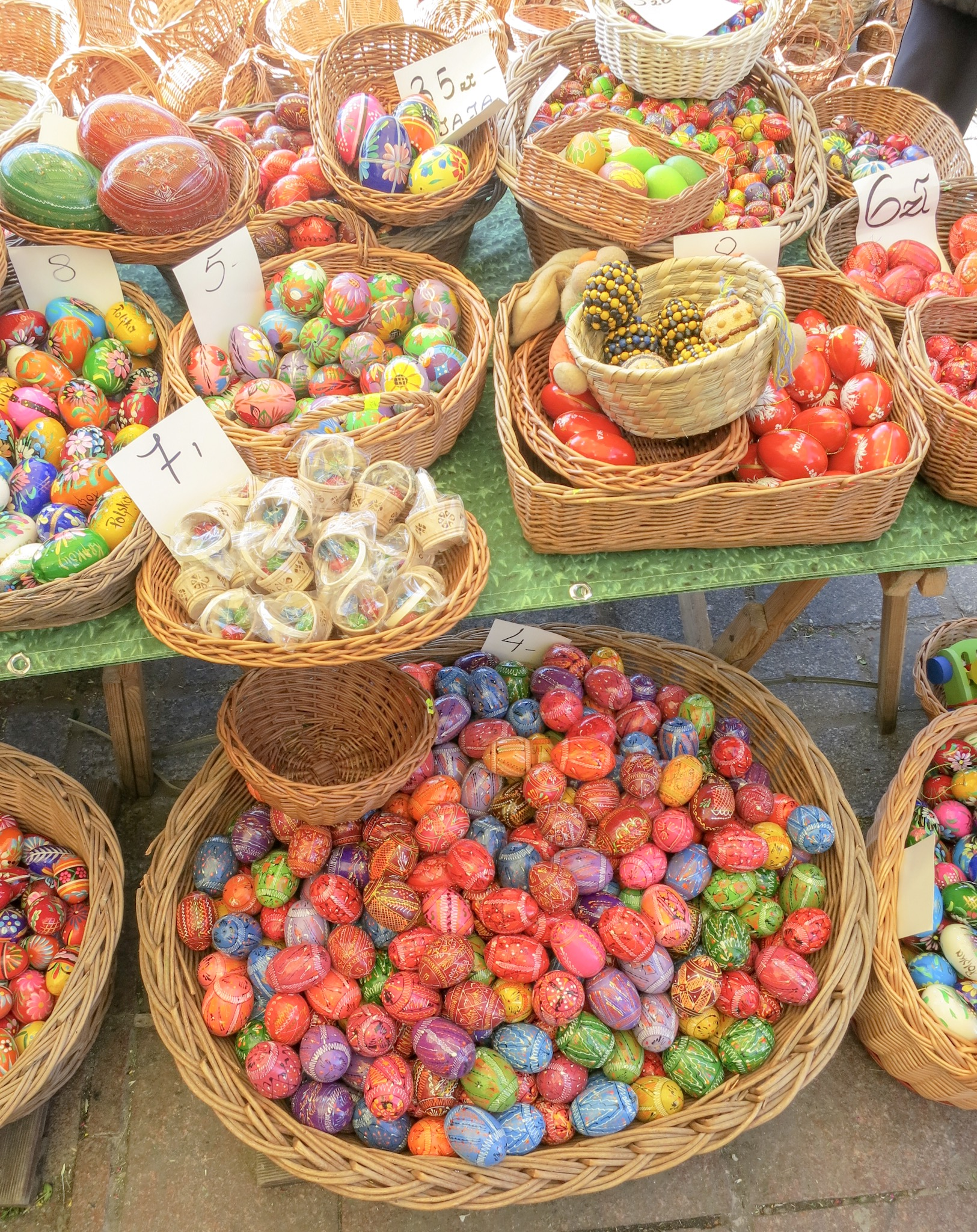 Pisanki (painted Easter eggs) at Krakow's Easter Market