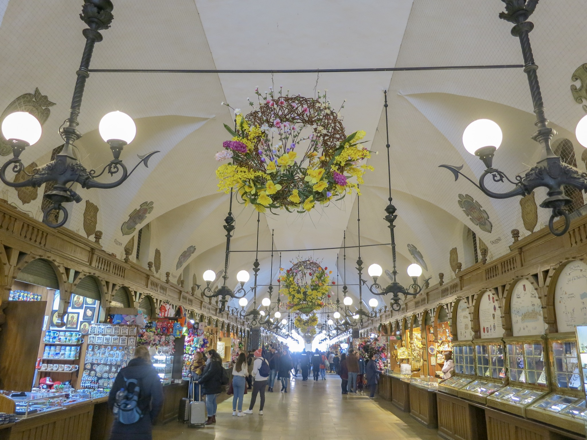 Easter decorations in Krakow's Cloth Hall