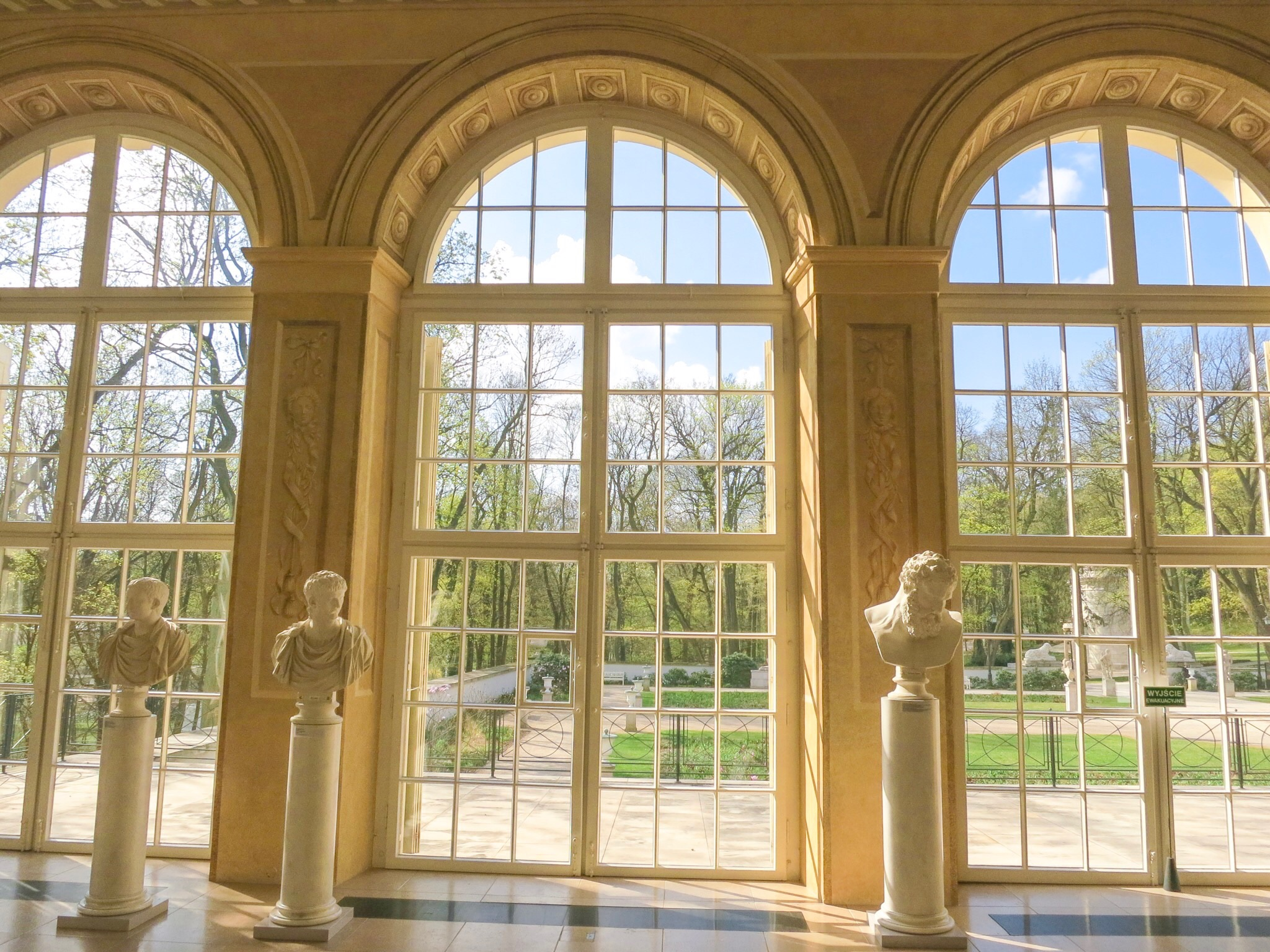 The windows at the Old Orangery in Łazienki Royal Park, also brilliantly unadorned