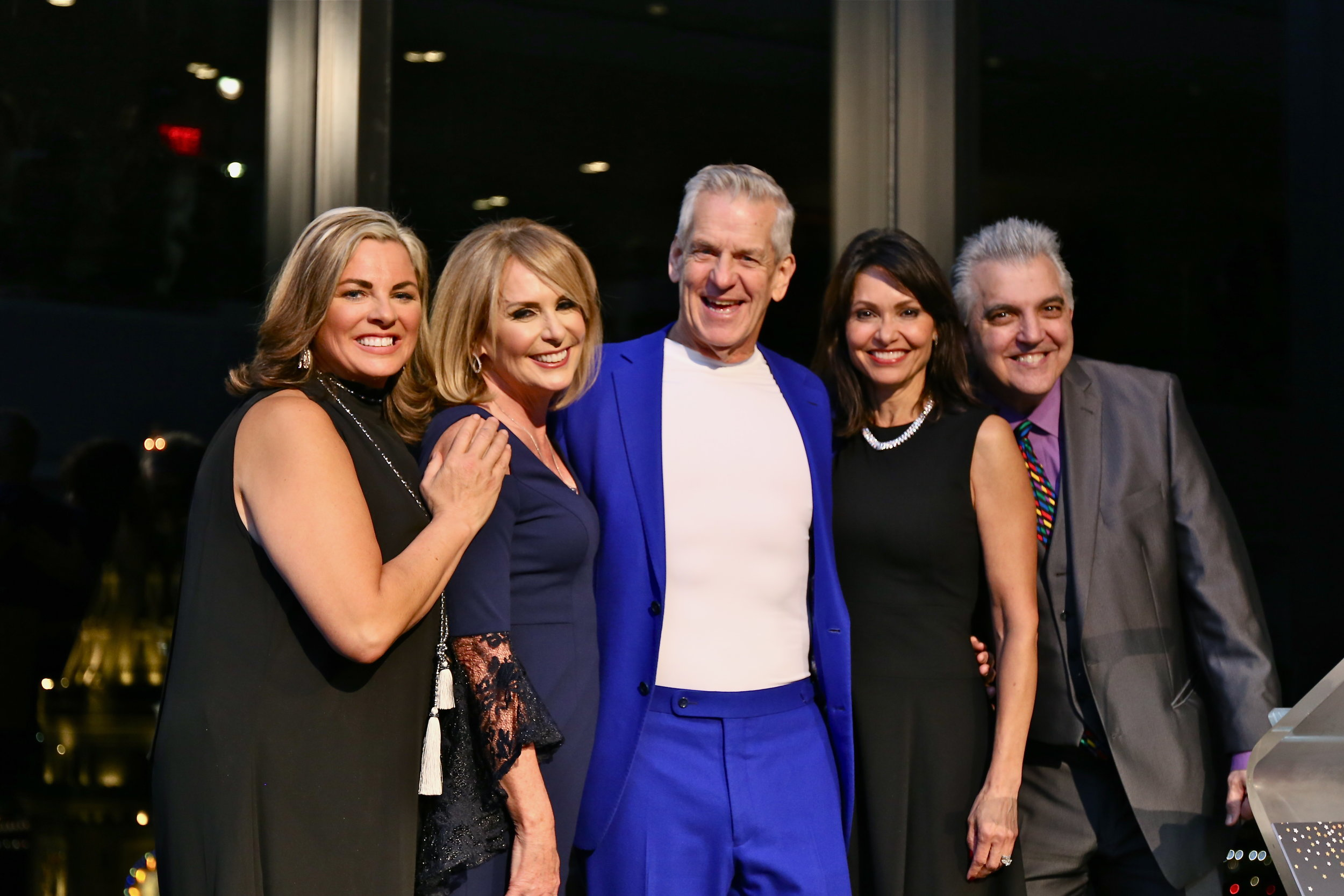 Jett Foundation founder Christine McSherry, with Beacon Award winner Candy O'Terry, and emcees Lenny Clarke, Liz Brunner, and Johnny Pizzi.